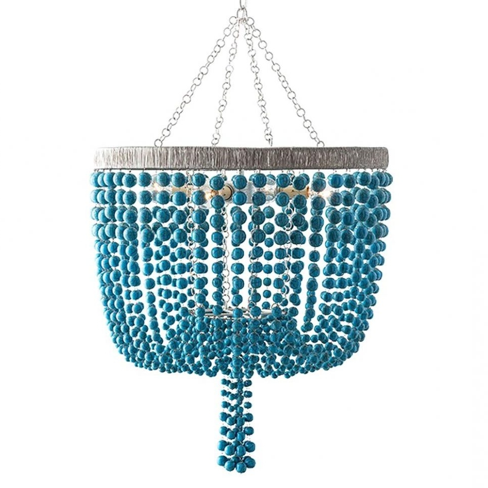 Large Turquoise Chandeliers For Most Recently Released Chandeliers Design : Fabulous Terio Coastal Beach Turquoise (View 7 of 15)