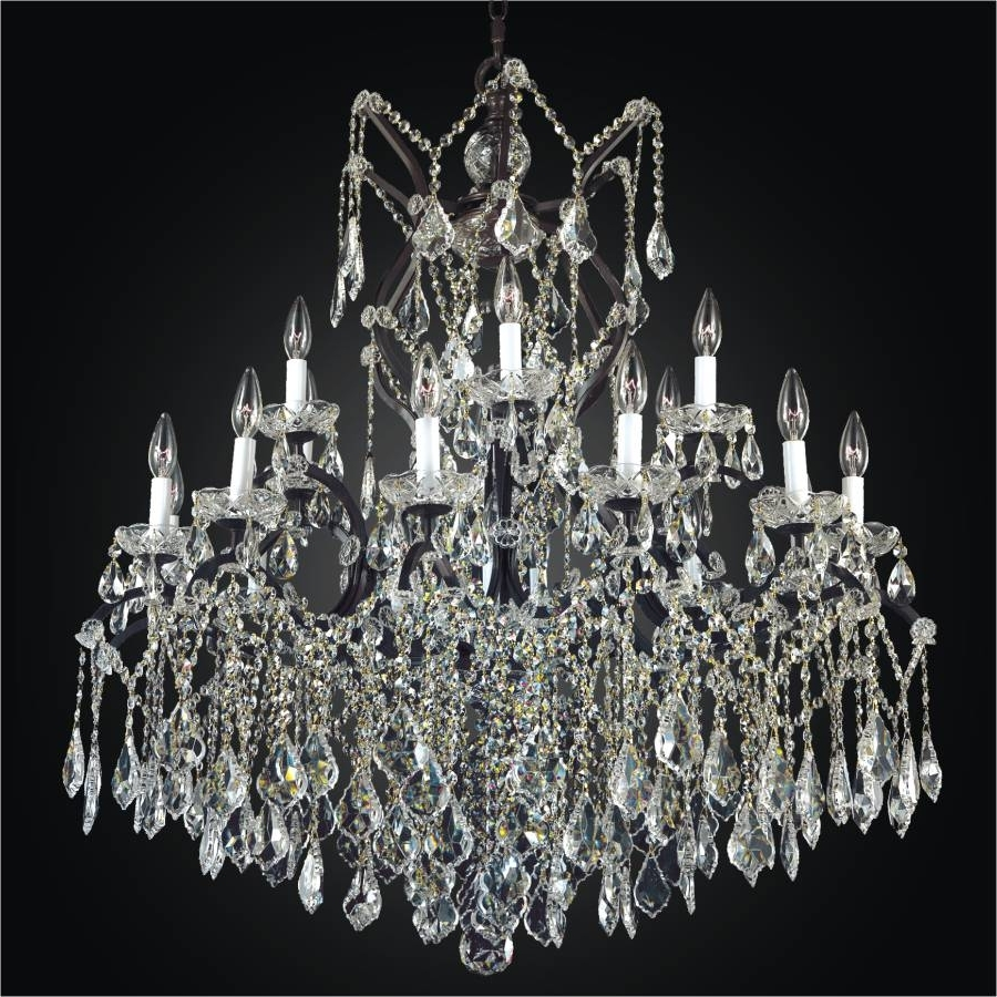 Large Wrought Iron Chandeliers – Large Crystal Chandeliers (View 14 of 15)