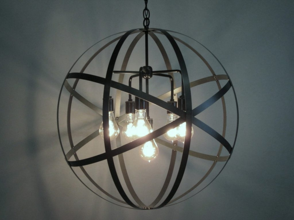 Latest Chandelier ~ Home Decor: Admirable Light Of Sphere Chandelier With With Metal Sphere Chandelier (View 4 of 15)