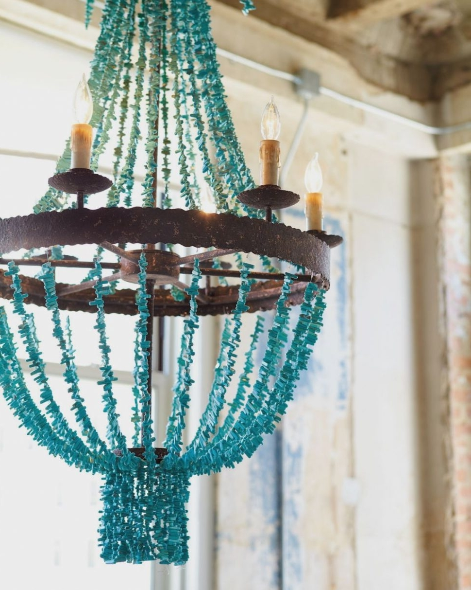 Latest Chandeliers Design : Fabulous Cumulus Chandelier Turquoise Amazing Inside Large Turquoise Chandeliers (Gallery 1 of 15)