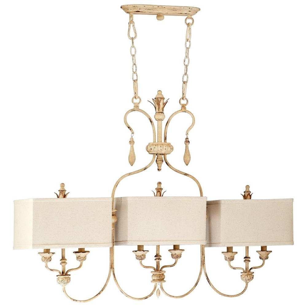 Latest French Style Chandelier For Maison French Country Antique White 6 Light Island Chandelier (View 11 of 15)