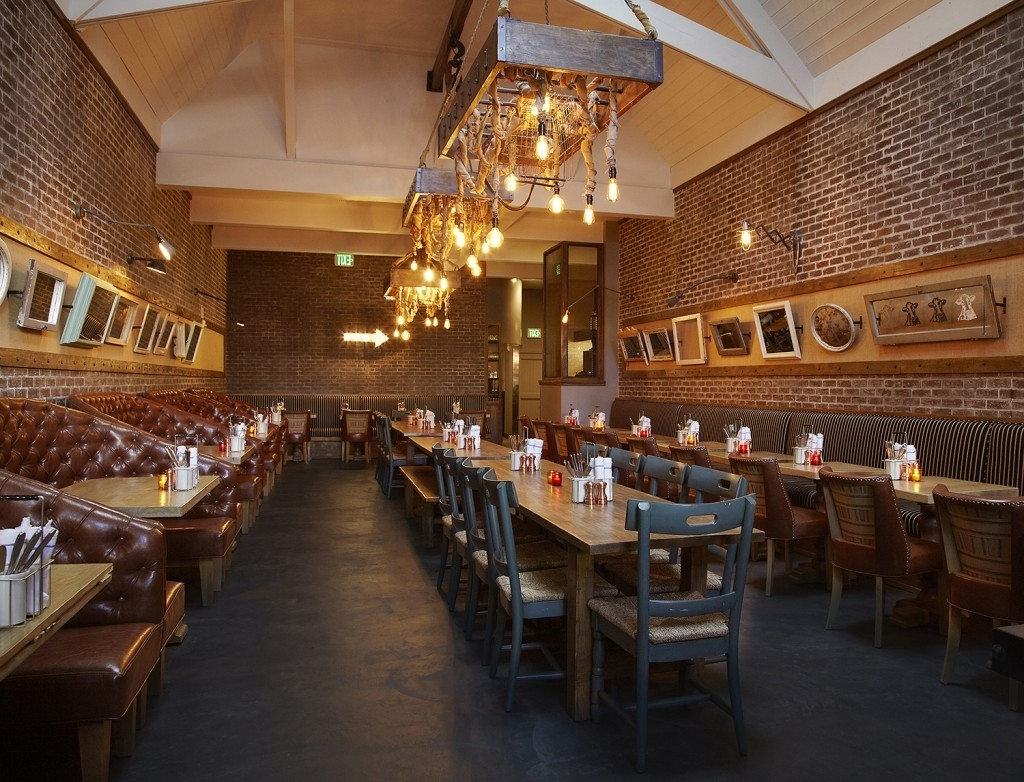 Latest Industrial Pendant, Vintage Light Bulbs Grace New La Eatery (View 9 of 15)