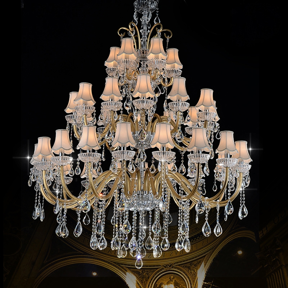 Latest Luxury Large Chandelier Modern Sanctuary Hall Chandeliers With Shade With Large Chandeliers Modern (View 10 of 15)