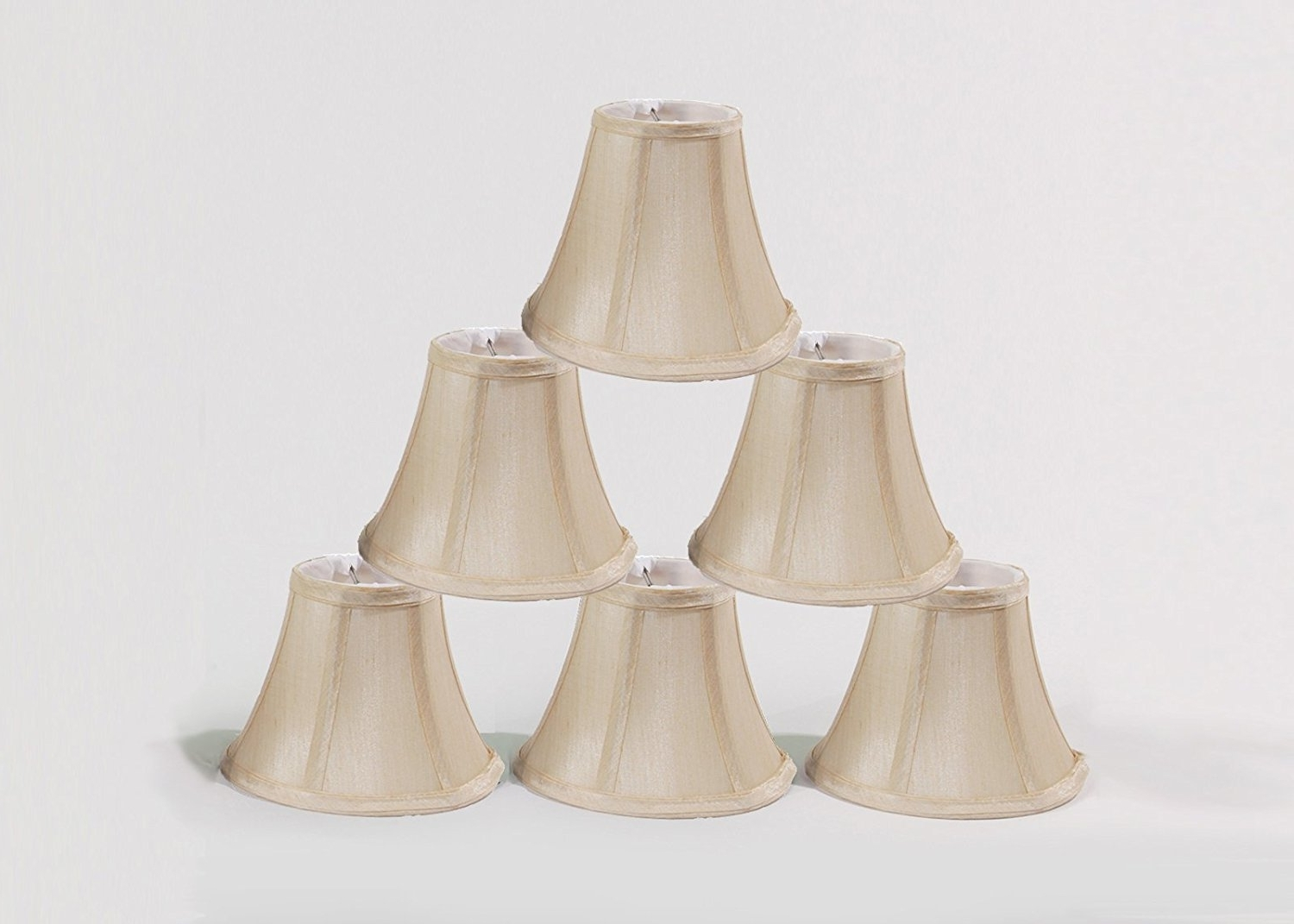 "Latest Urbanest Chandelier Lamp Shades, Set Of 6, Soft Bell 3""x 6""x 5 For Small Chandelier Lamp Shades (View 4 of 15)"