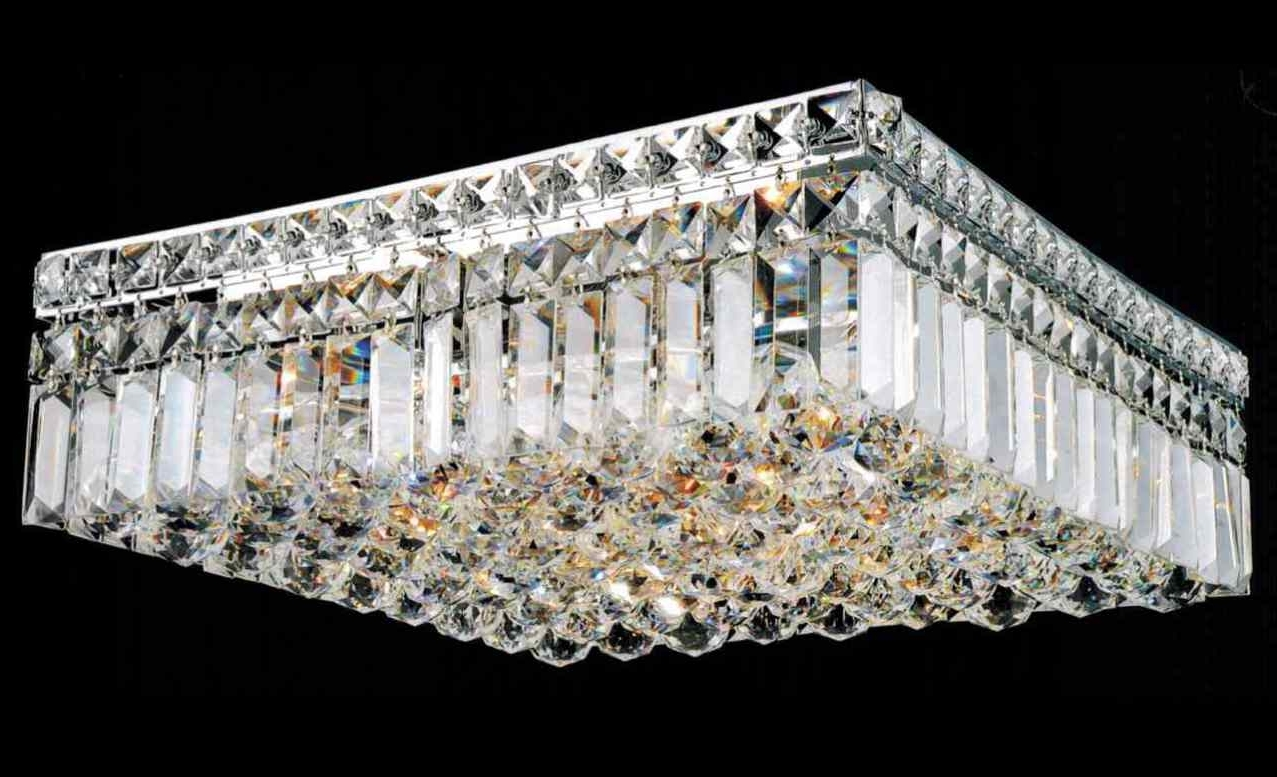 Latest Wall Mount Crystal Chandeliers Throughout Chandelier : Candice Chrome And Crystal Semi Flush Mount Chandelier (View 8 of 15)