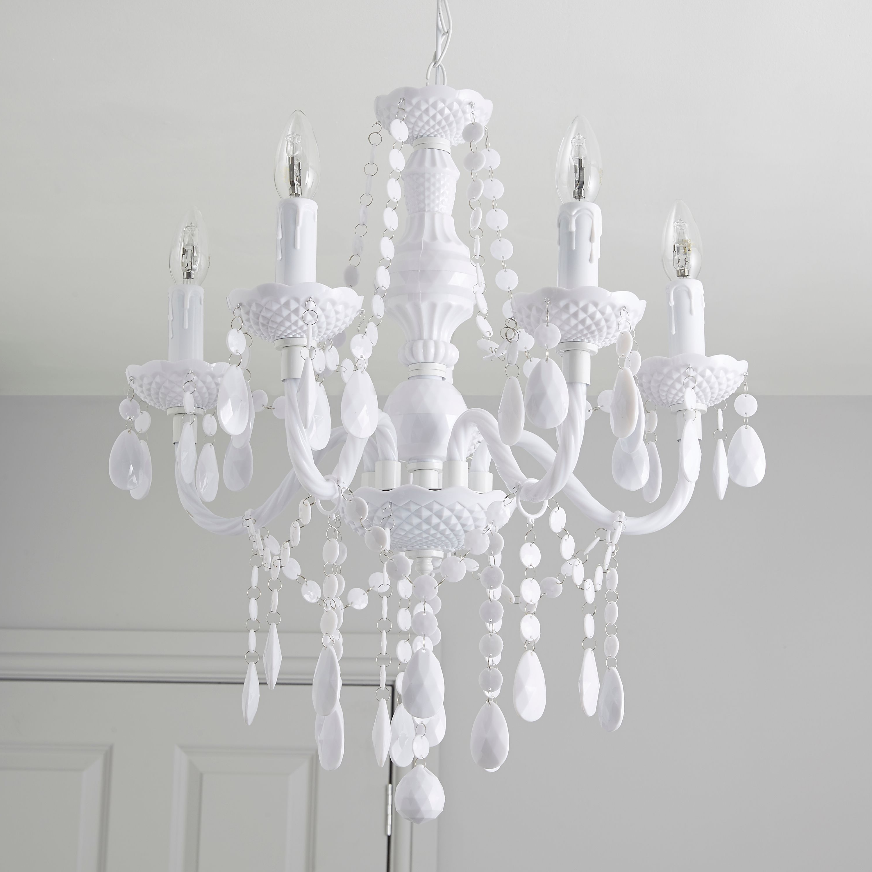 Latest White Crystal Chandelier Vintage Pics Ceiling Fan Whitewhite Kit Regarding White Chandeliers (View 5 of 15)