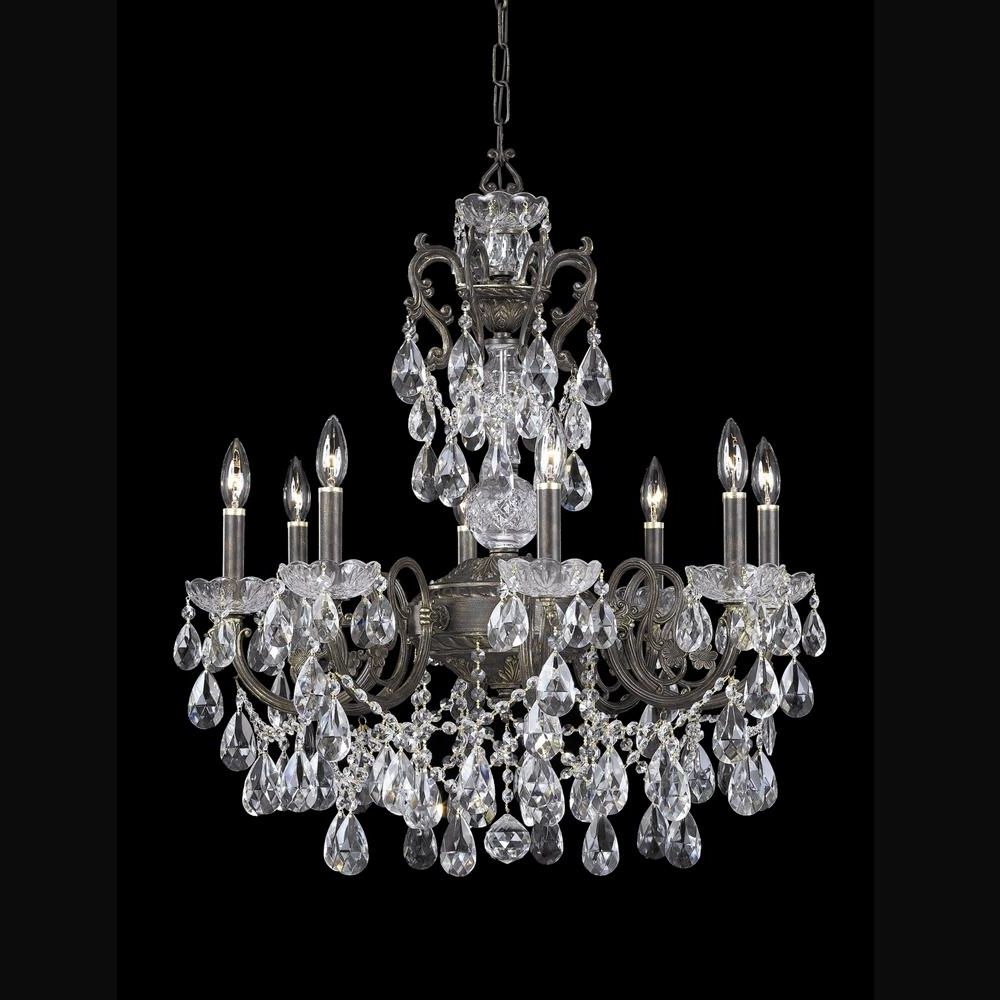 Lead Crystal Chandelier Regarding Fashionable Buy English Bronze Hand Cut Lead Crystal Chandelier (View 12 of 15)