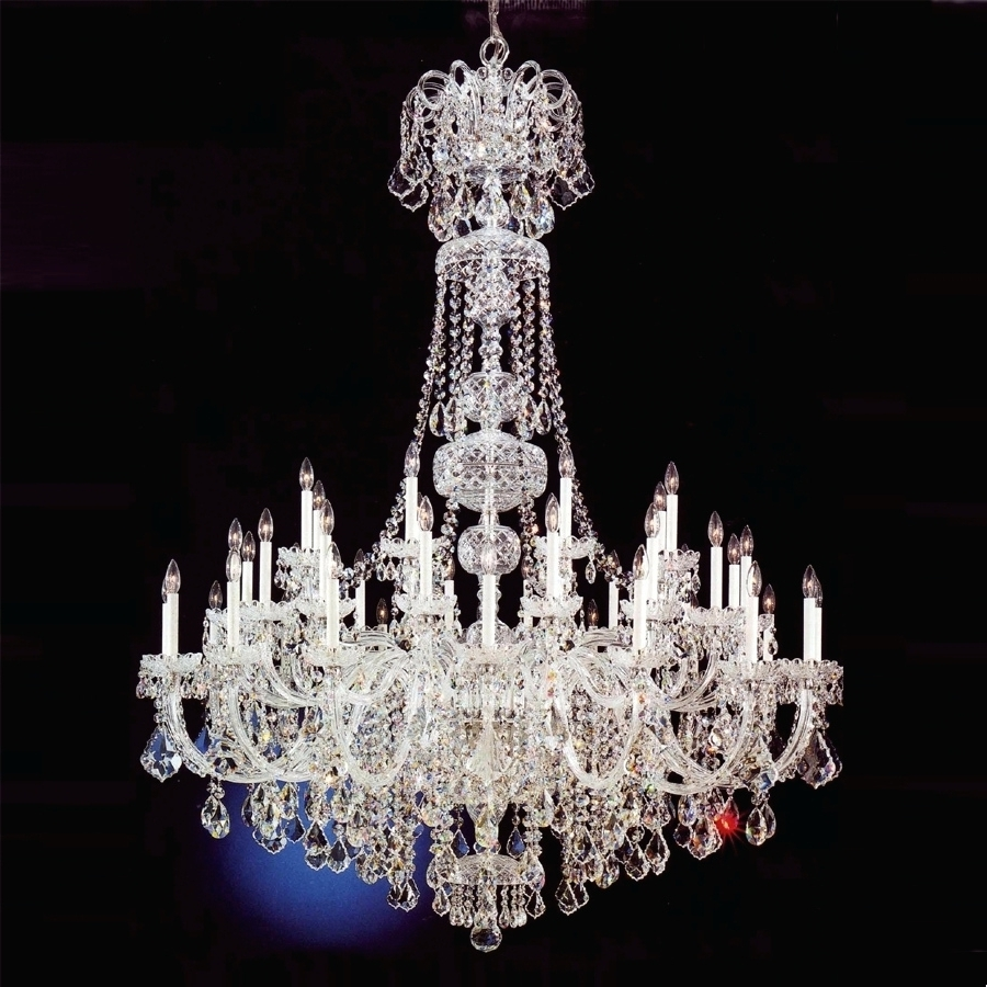 Lead Crystal Chandeliers With Most Popular Chandeliers ~ Modern Large Crystal Chandelier For Foyer Modern Big (View 7 of 15)