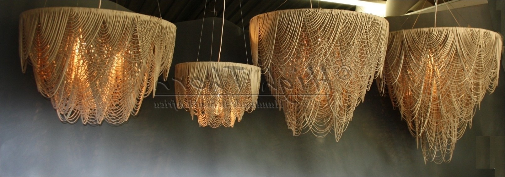 Leather Chandeliers Intended For Current High Thorn – Handmade In South Africa – Lighting, Furniture, Home (View 2 of 15)