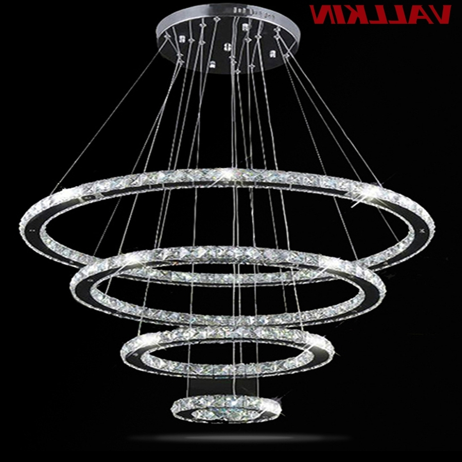 Led Crystal Chandelier Light Modern Led Circle Chandeliers Lamp Pertaining To Well Liked Modern Led Chandelier (View 4 of 15)