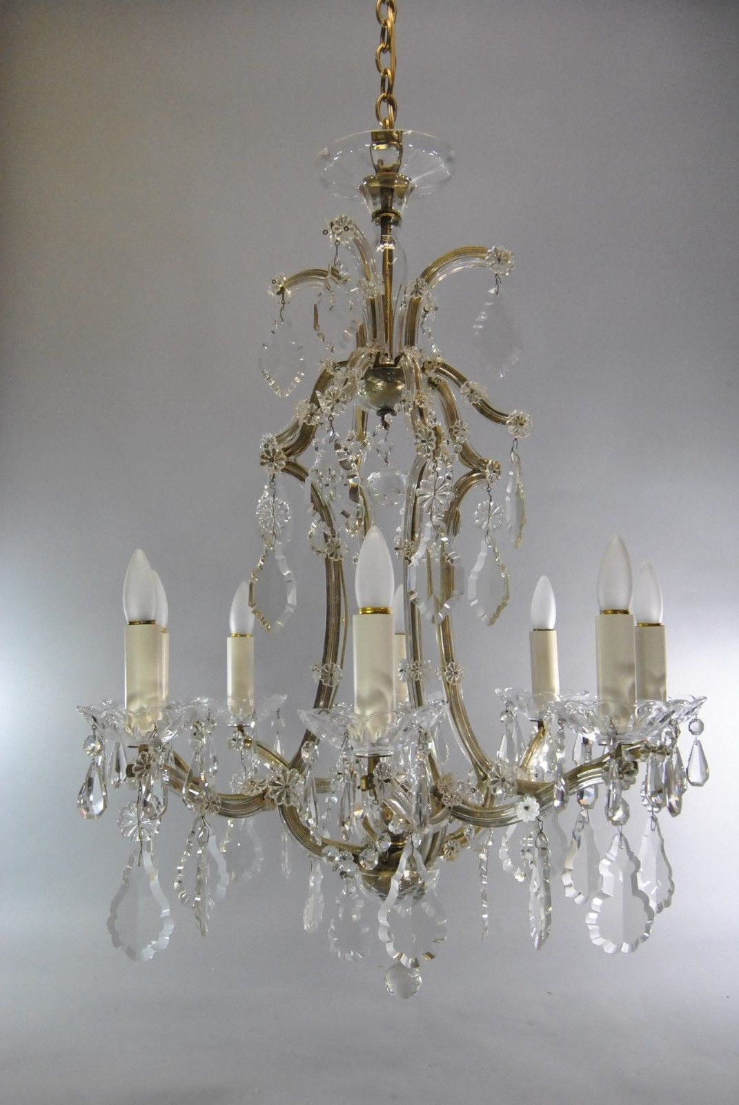 Leffler's Antiques In Widely Used French Glass Chandelier (View 3 of 15)