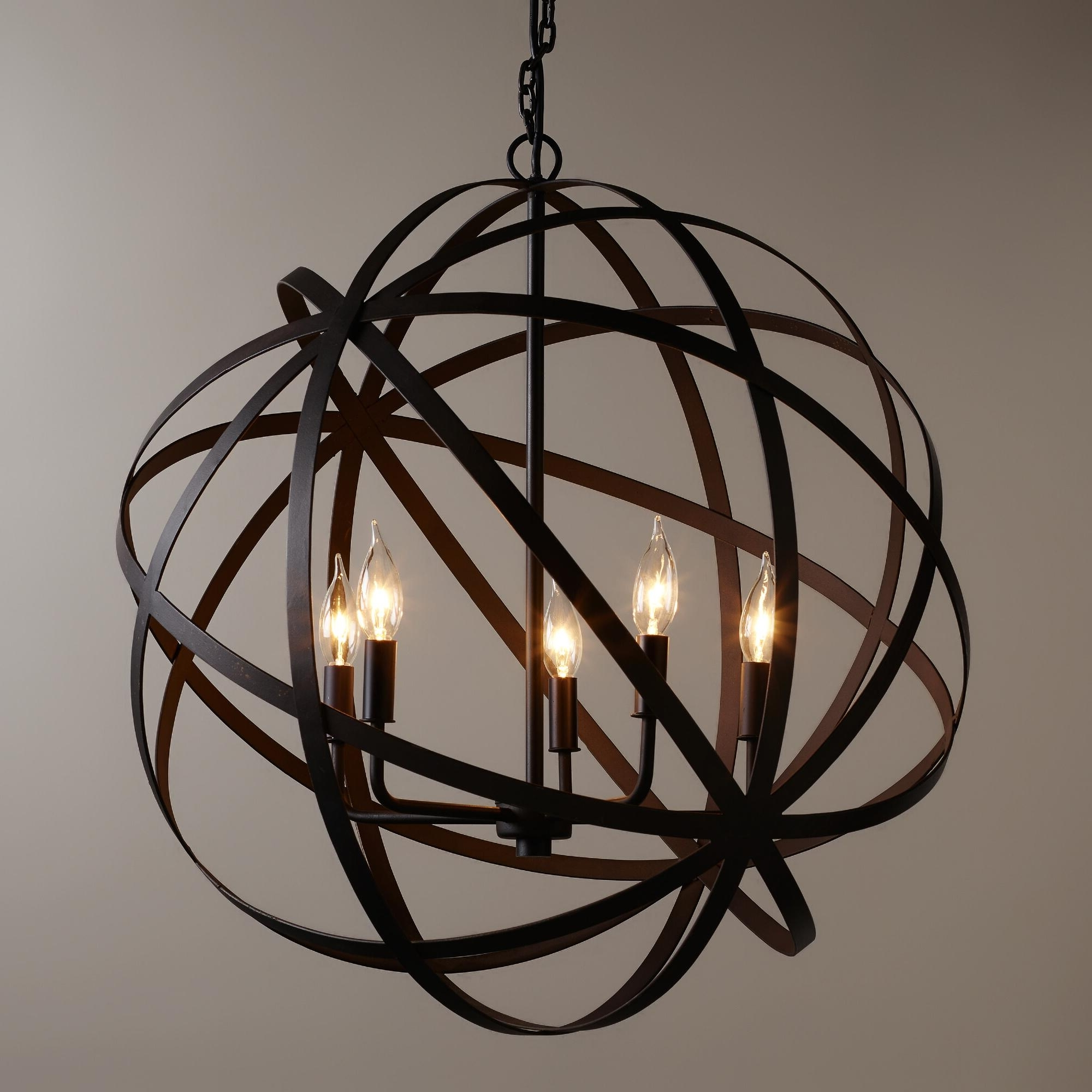 Light : Creative Orb Chandelier About Interior Designing Home Ideas Pertaining To Well Known Metal Chandeliers (View 5 of 15)