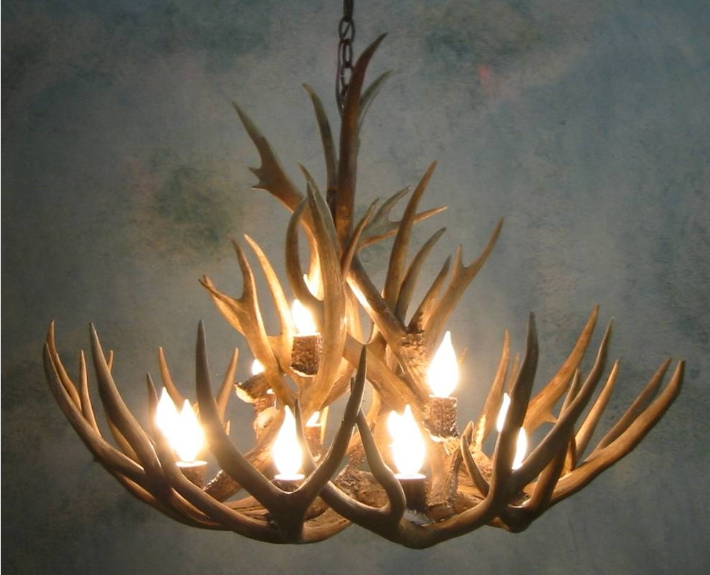 Light : Elk Lighting Antler Chandelier Home Designs Instructions For Pertaining To Well Known Stag Horn Chandelier (View 4 of 15)