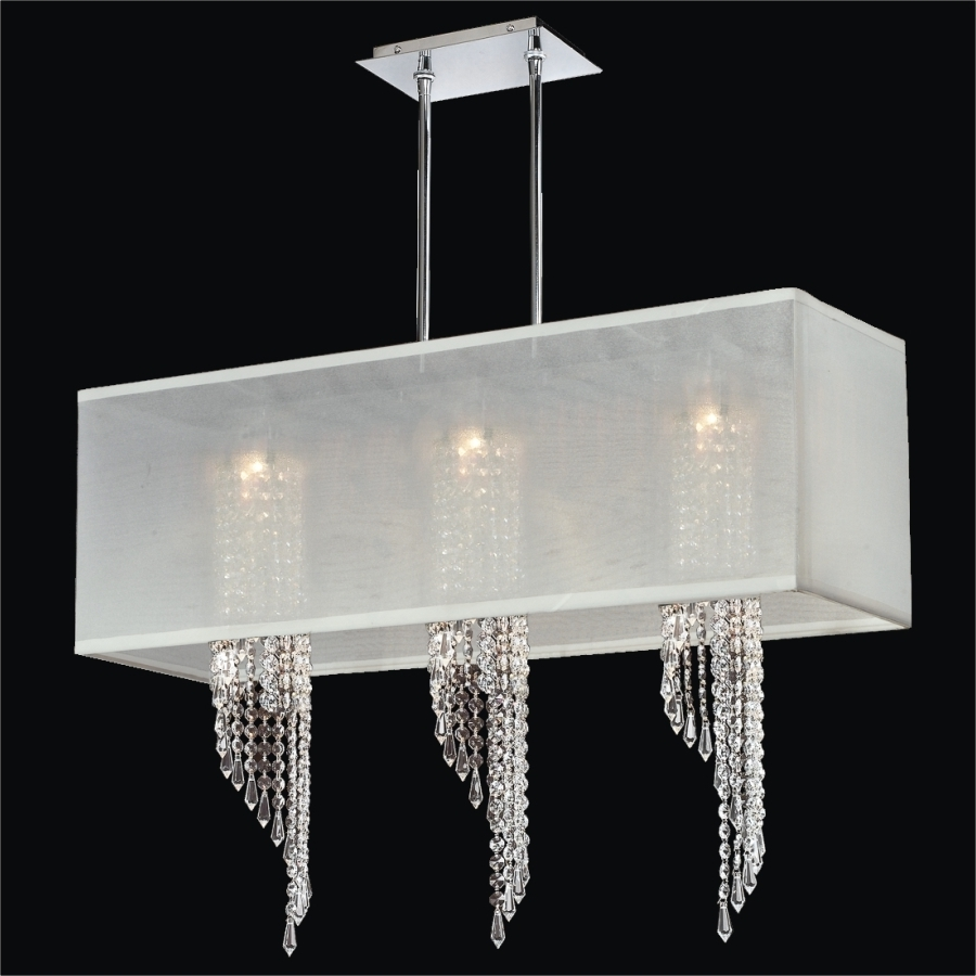 Light : Furniture Hanging Modern Chandelier With White Rectangular Throughout Famous White Contemporary Chandelier (View 7 of 15)