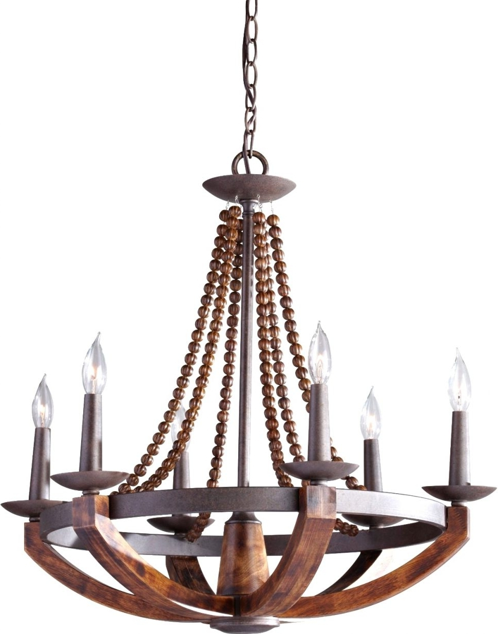 Light : Large Rustic Chandelier Lighting With Best Wood And Metal In Most Current Metal Ball Candle Chandeliers (View 9 of 15)