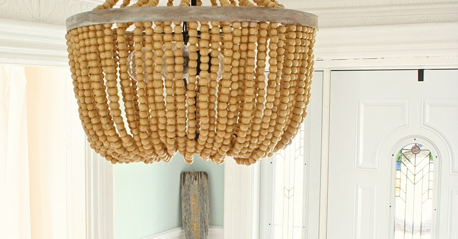 Lighting ~ Chandeliers ~ Turquoise Beaded Chandelier Light Fixture Intended For Latest Turquoise Wood Bead Chandeliers (View 9 of 15)