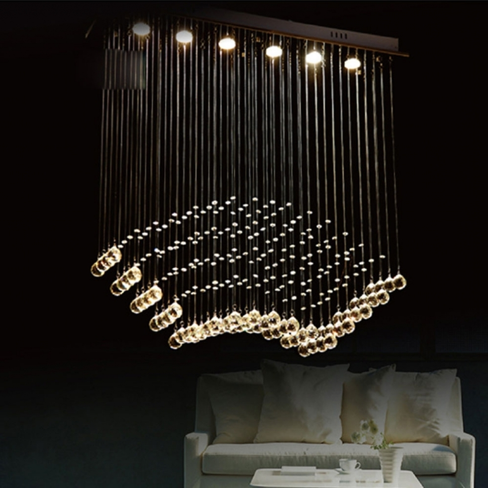 Lighting: Large Contemporary Chandelier Lighting (View 9 of 15)