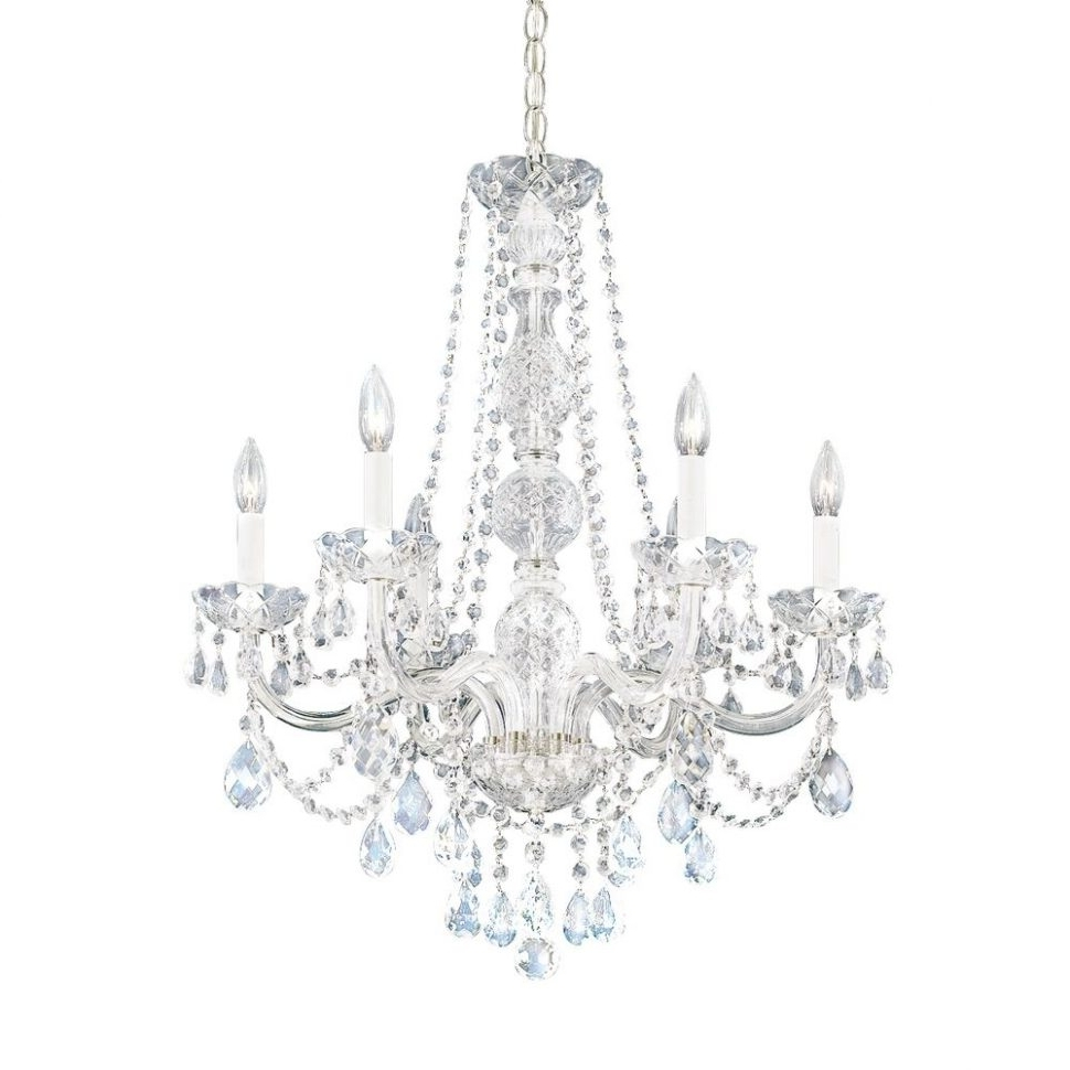 Lighting : Pink Crystal Chandelier Light Colonial Chandelier Best Pertaining To 2018 Sparkly Chandeliers (View 7 of 15)