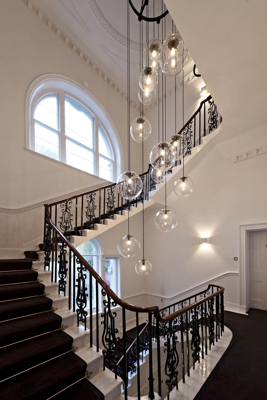 Lighting throughout Favorite Stairway Chandeliers