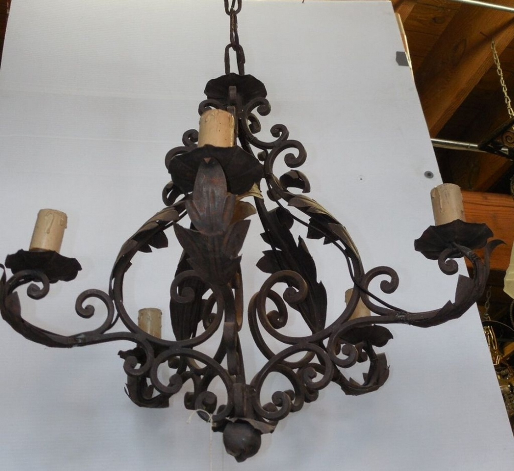 Featured Photo of Vintage Wrought Iron Chandelier