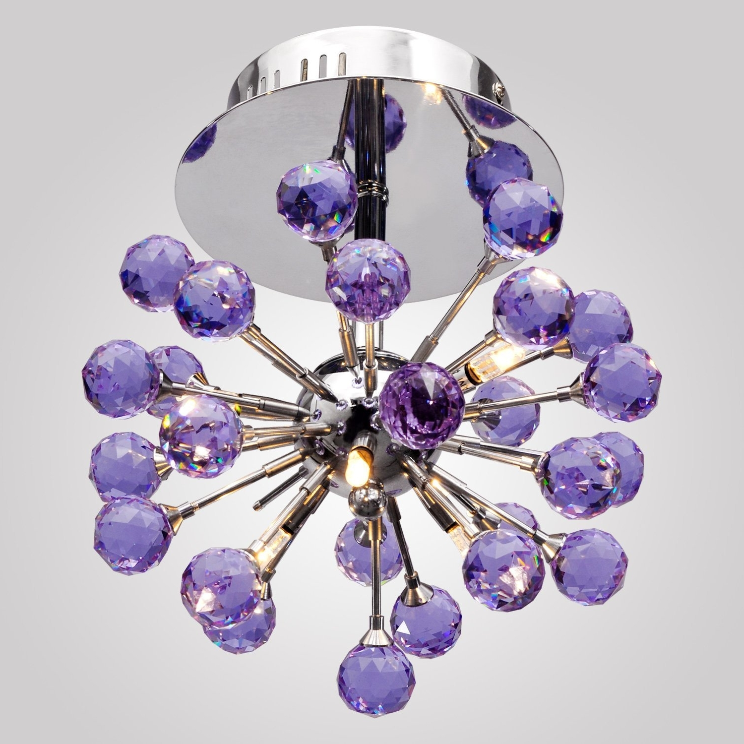Lightinthebox 6 Light Floral Shape K9 Crystal Ceiling Light Purple Regarding Widely Used Purple Crystal Chandelier Lights (View 13 of 15)