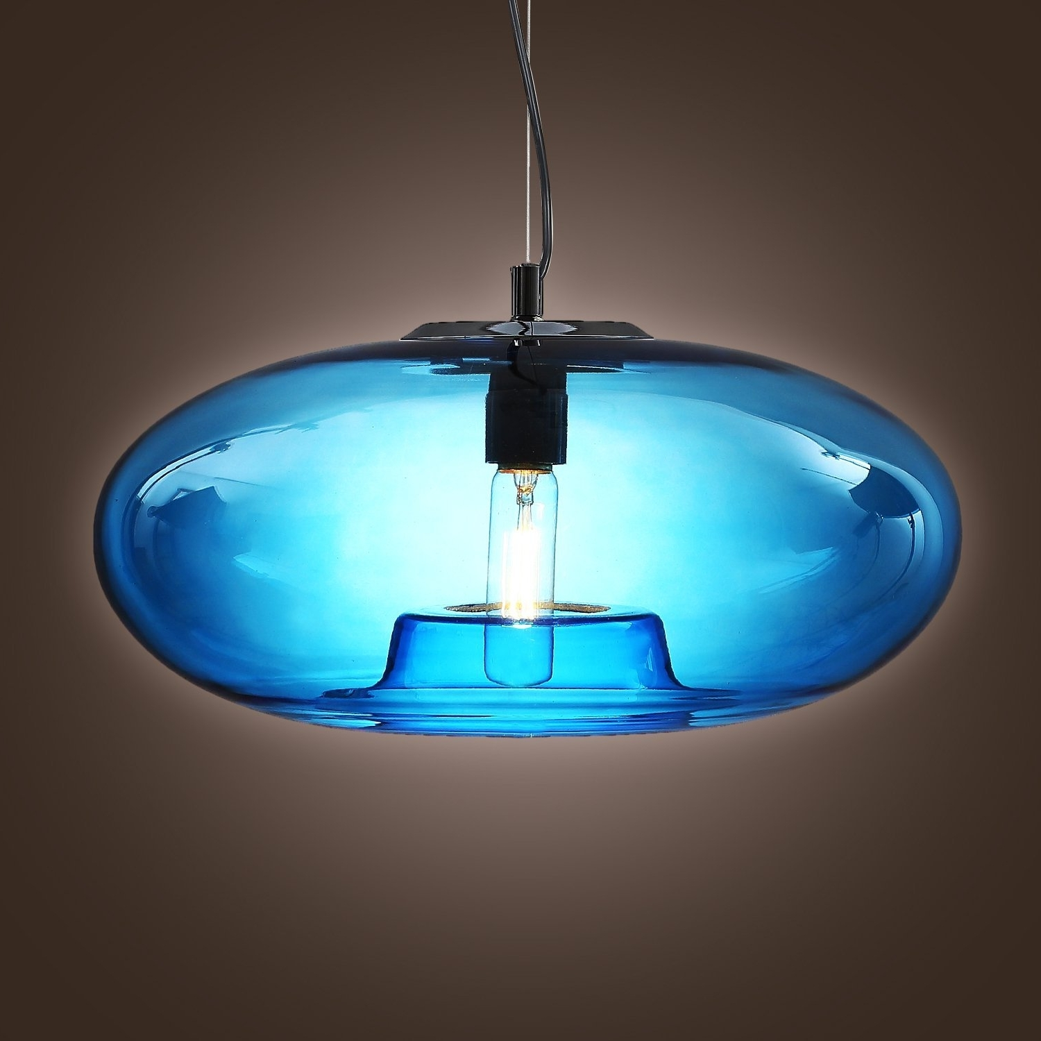 Lightinthebox Vintage Glass Pendant Light In Blue Bubble Modern For Preferred Turquoise Blue Glass Chandeliers (View 4 of 15)