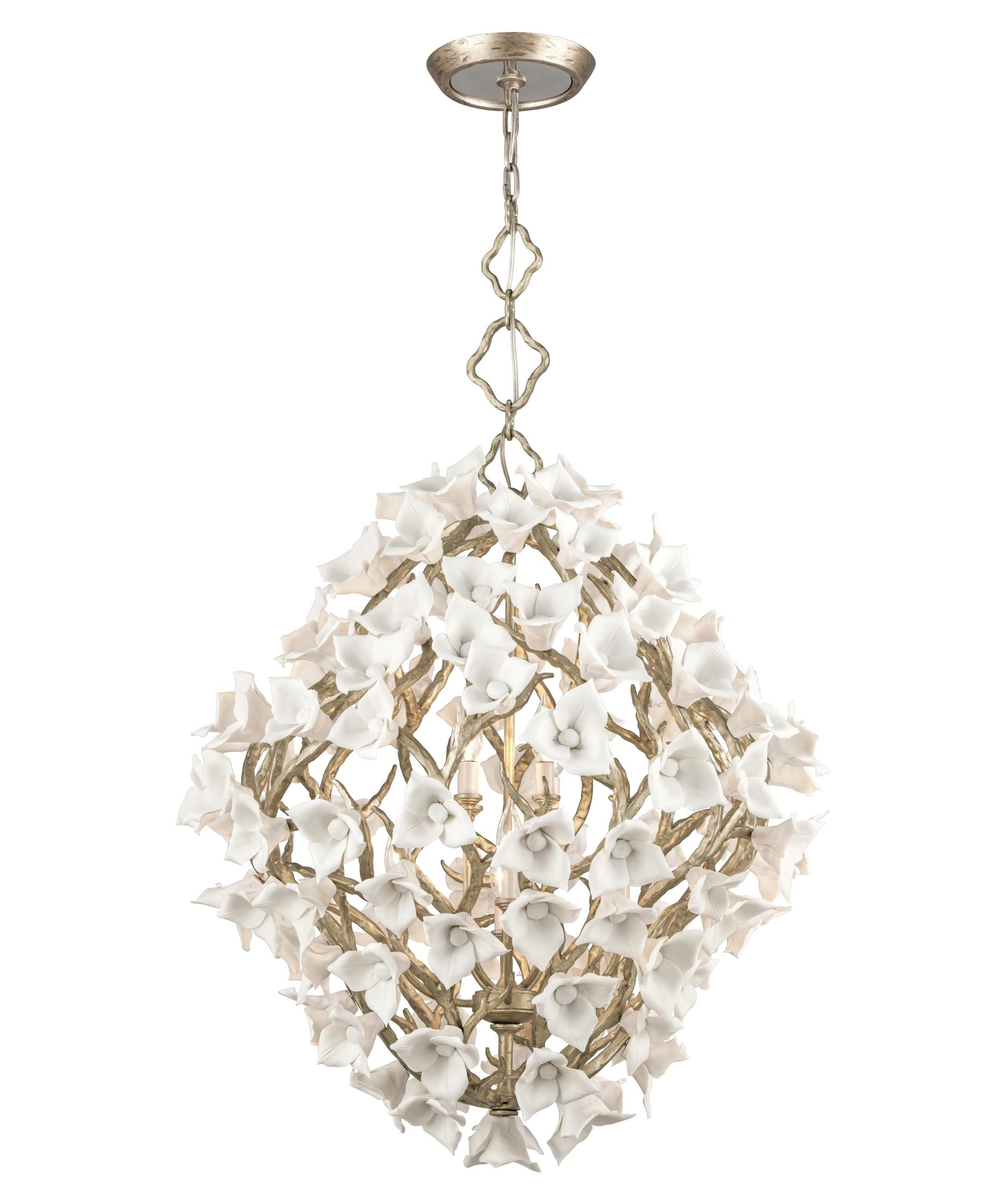 Lily Chandeliers pertaining to Recent Corbett Lighting 211-48 Lily 32 Inch Wide 8 Light Chandelier