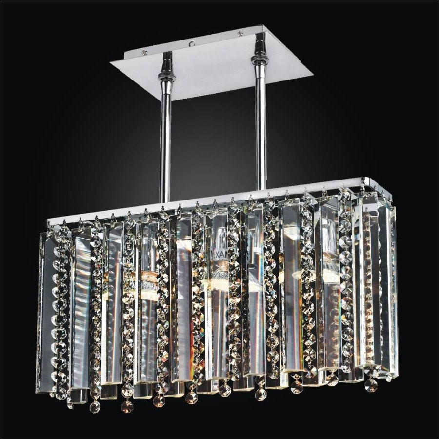 Long Chandelier Lighting Pertaining To Preferred Linear Glass Chandelier – Crystal Chandelier (View 10 of 15)