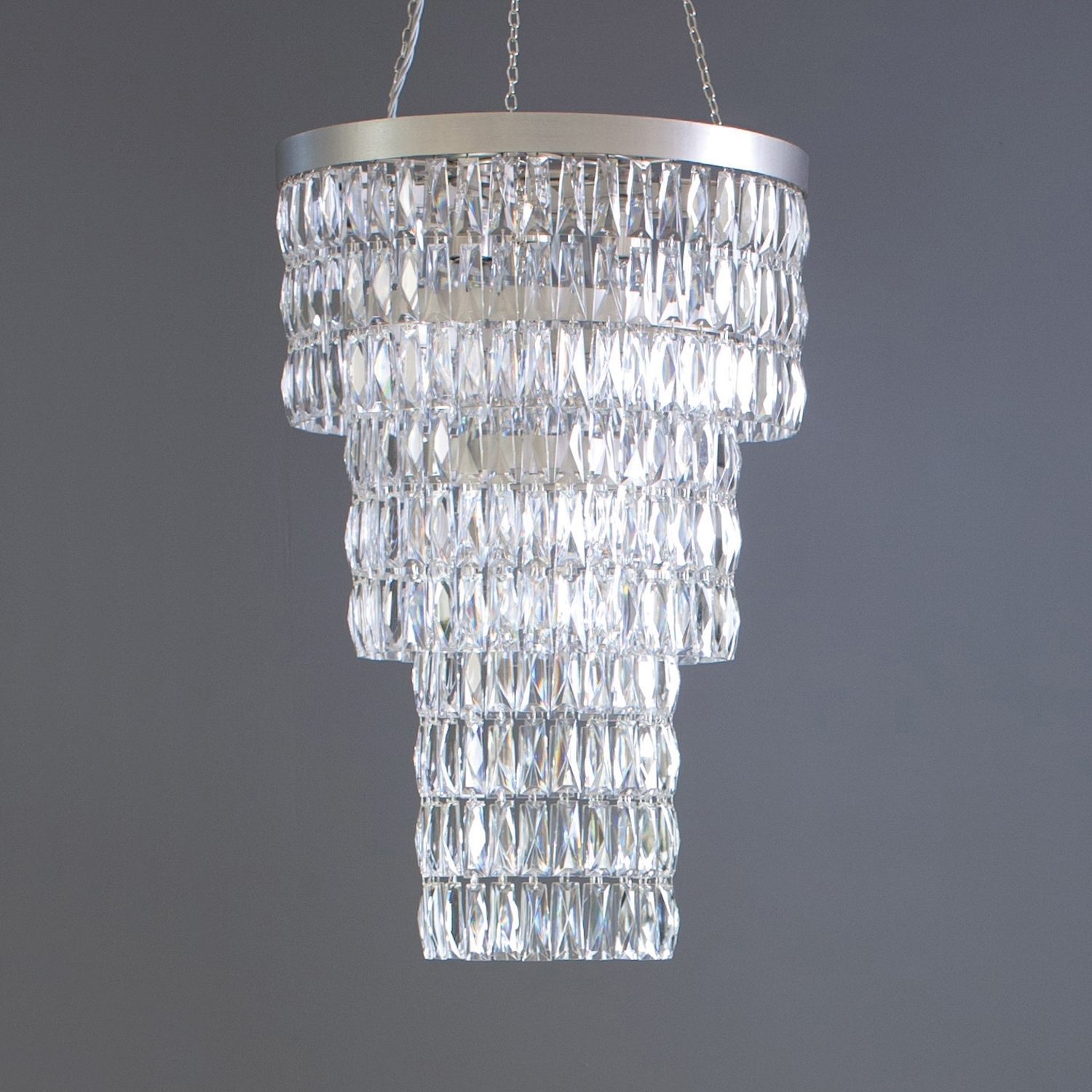 Long Chandelier Within Trendy Clear Crystal Long Chandelier – Tigermoth Lighting (View 8 of 15)