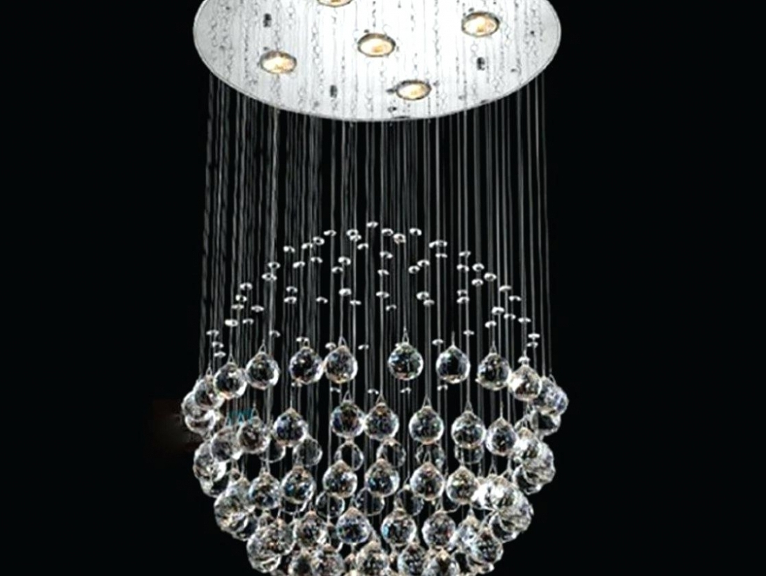 Long Hanging Chandeliers In Popular Home Decor: Hanging Crystal Chandeliers Long Lighting Amazing Gold (View 10 of 15)