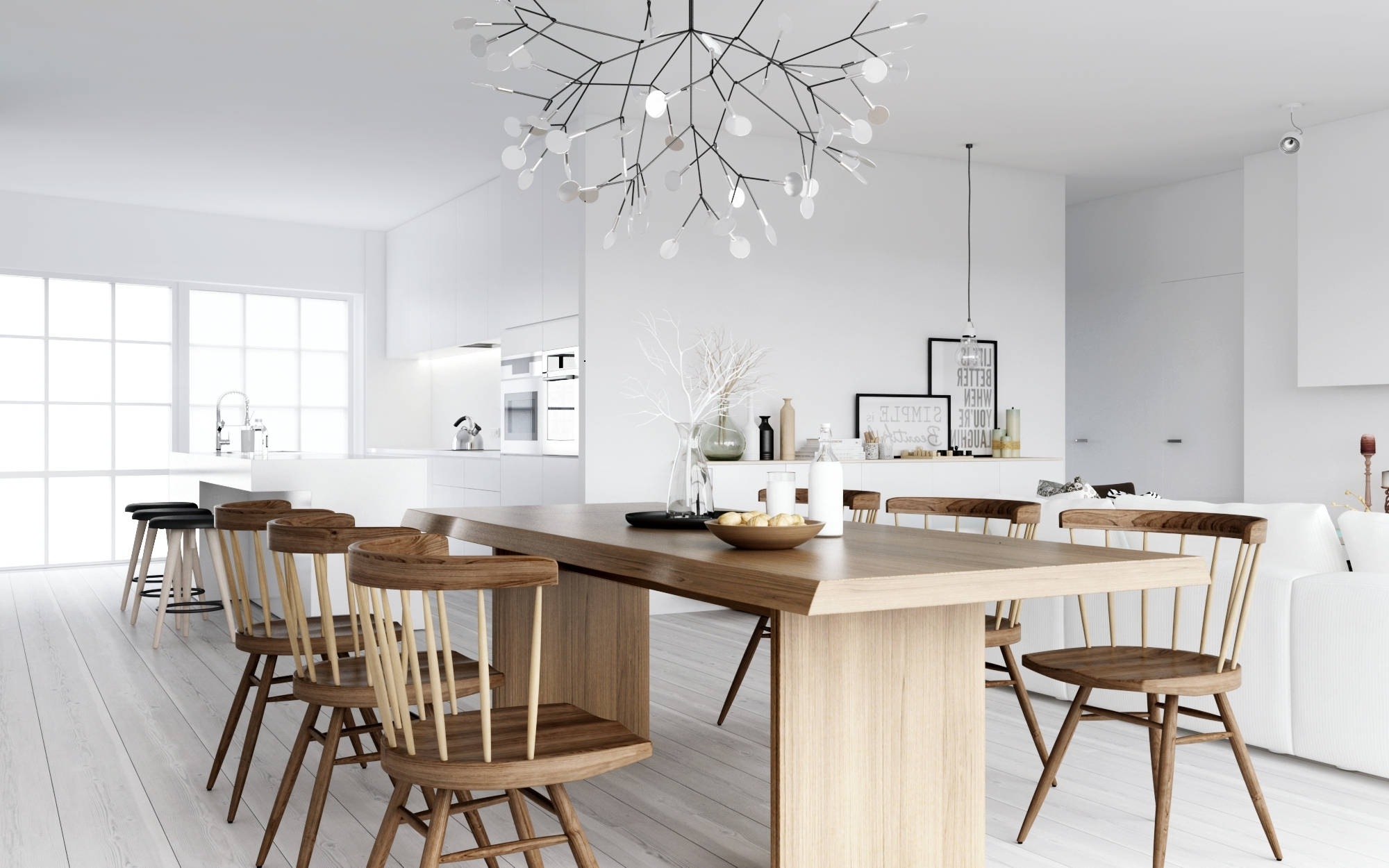 Luxury Tech Lighting Chandeliers Atdesign Wooden Dining Nordic Style With Widely Used Scandinavian Chandeliers (View 6 of 15)