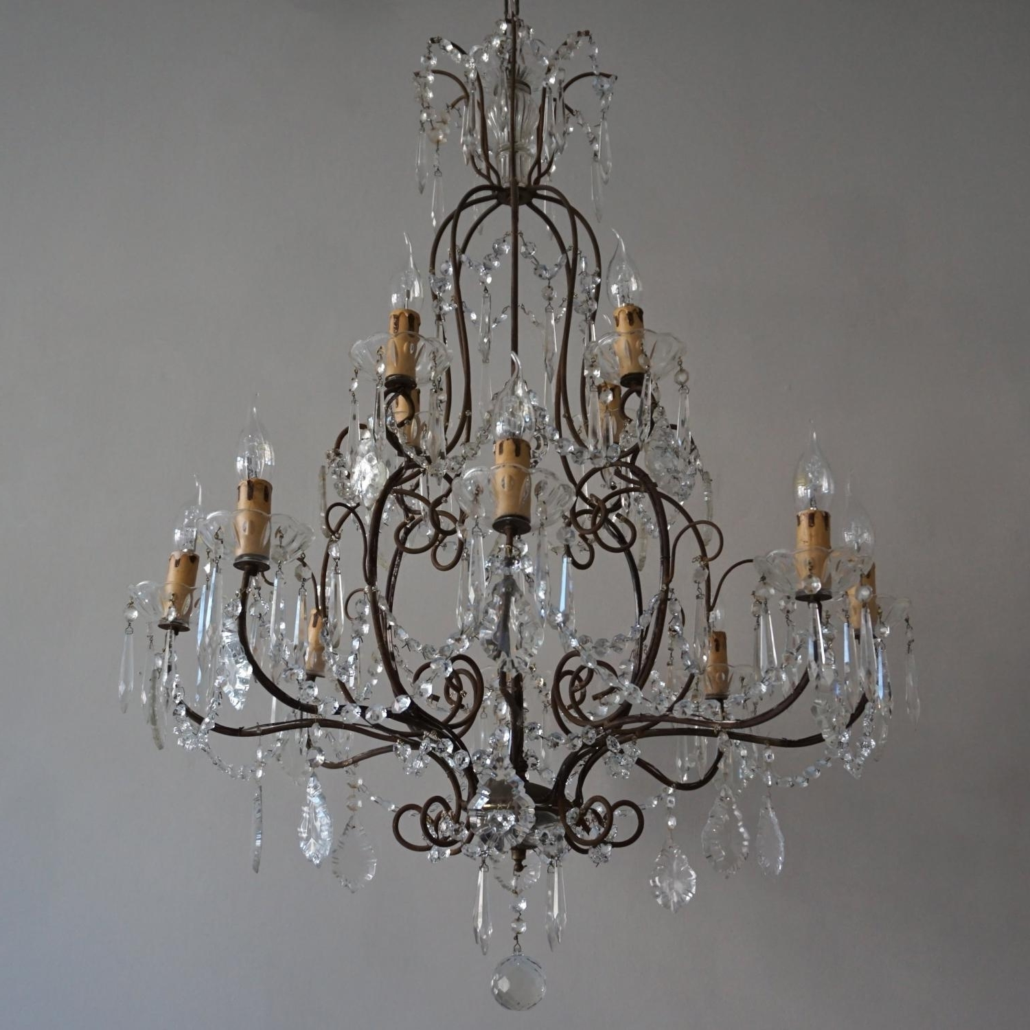 Magnificent Vintage 1930's Italian Chandelier In Lighting Inside Popular Vintage Italian Chandelier (View 5 of 15)