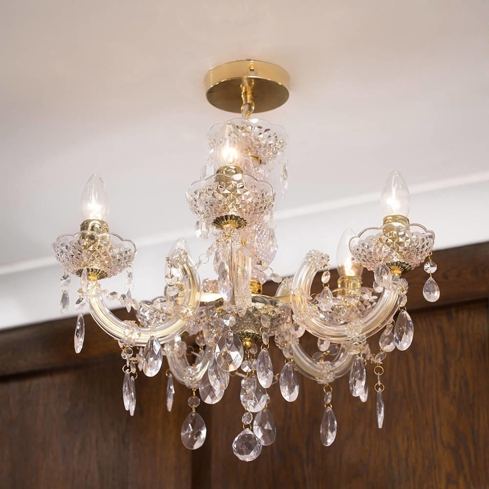 Marie Therese 5 Light Dual Mount Chandelier – Gold From Litecraft In Most Recently Released Short Chandelier (View 3 of 15)