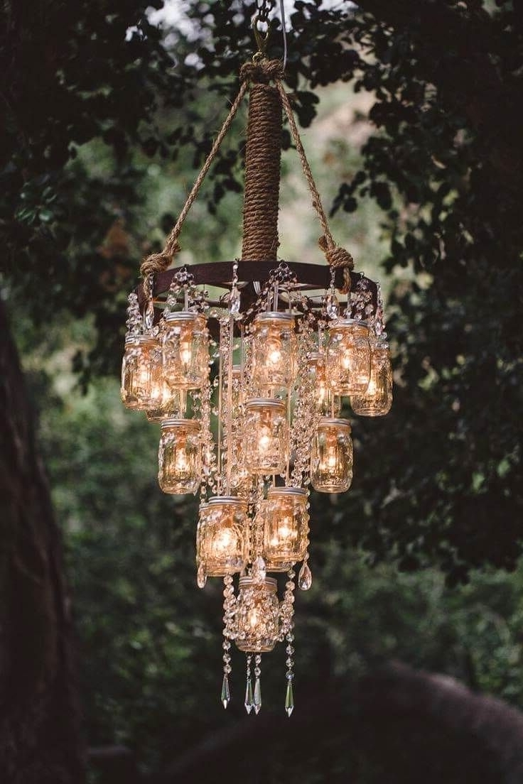 Mason Jar Crafts Throughout Most Popular Stand Up Chandeliers (View 6 of 15)