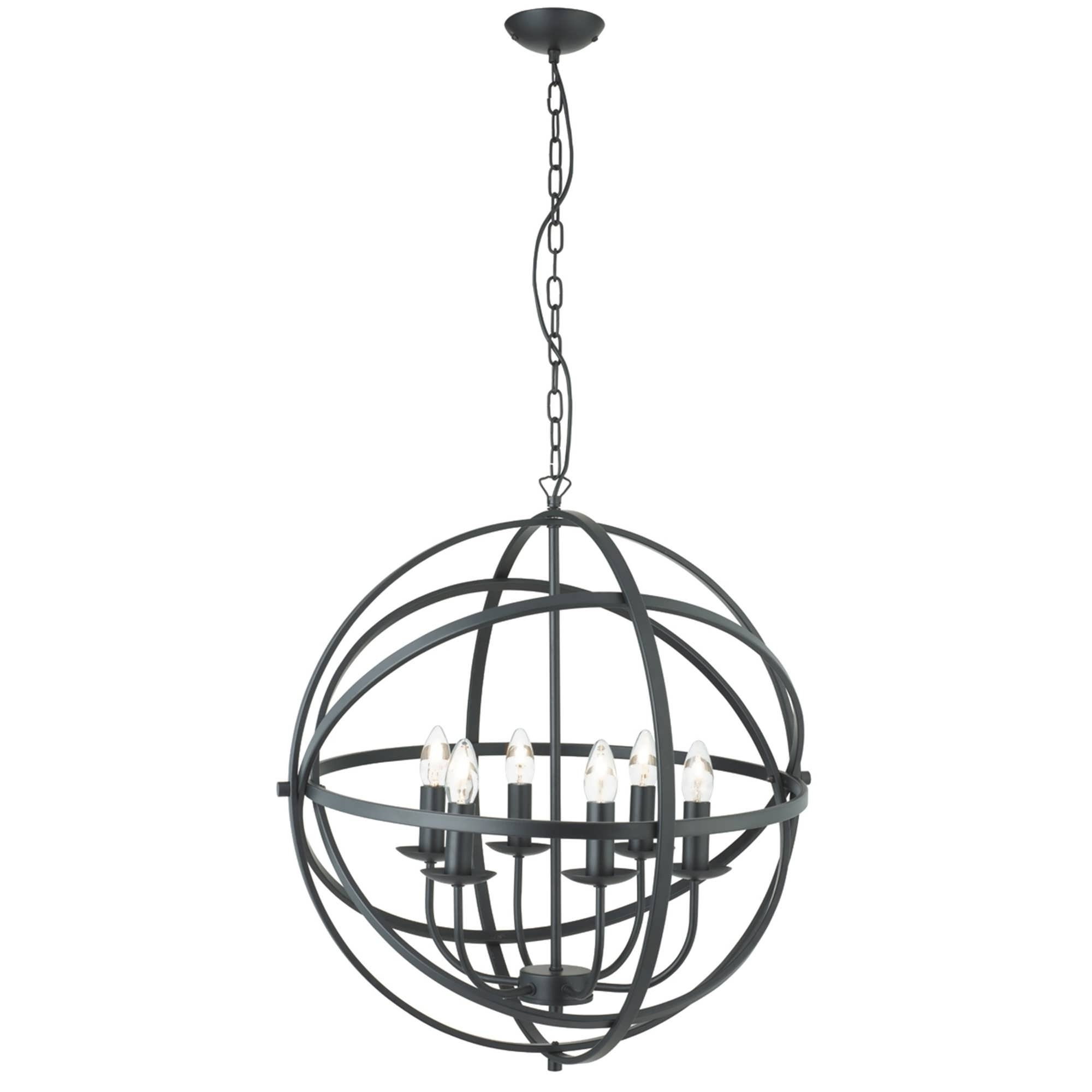 Metal Ball Chandeliers Within Current Chandeliers Design : Marvelous Iron Orb Chandelier Rustic (View 3 of 15)