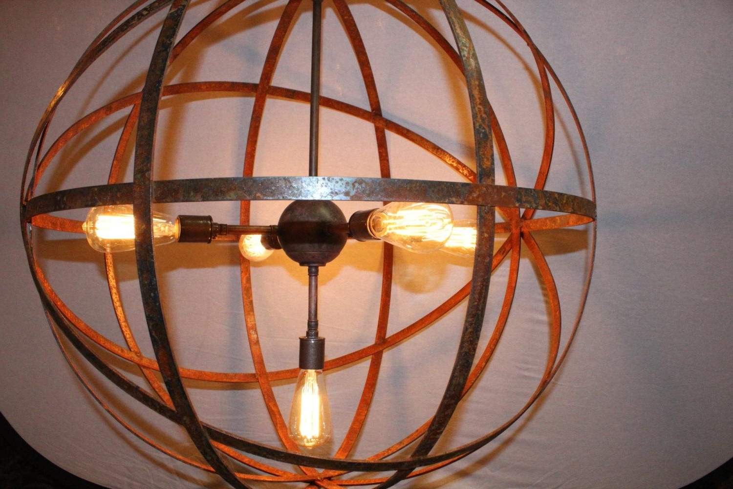 Metal Sphere Chandelier For Preferred Metal Sphere Chandelier — Cookwithalocal Home And Space Decor : Made (View 5 of 15)