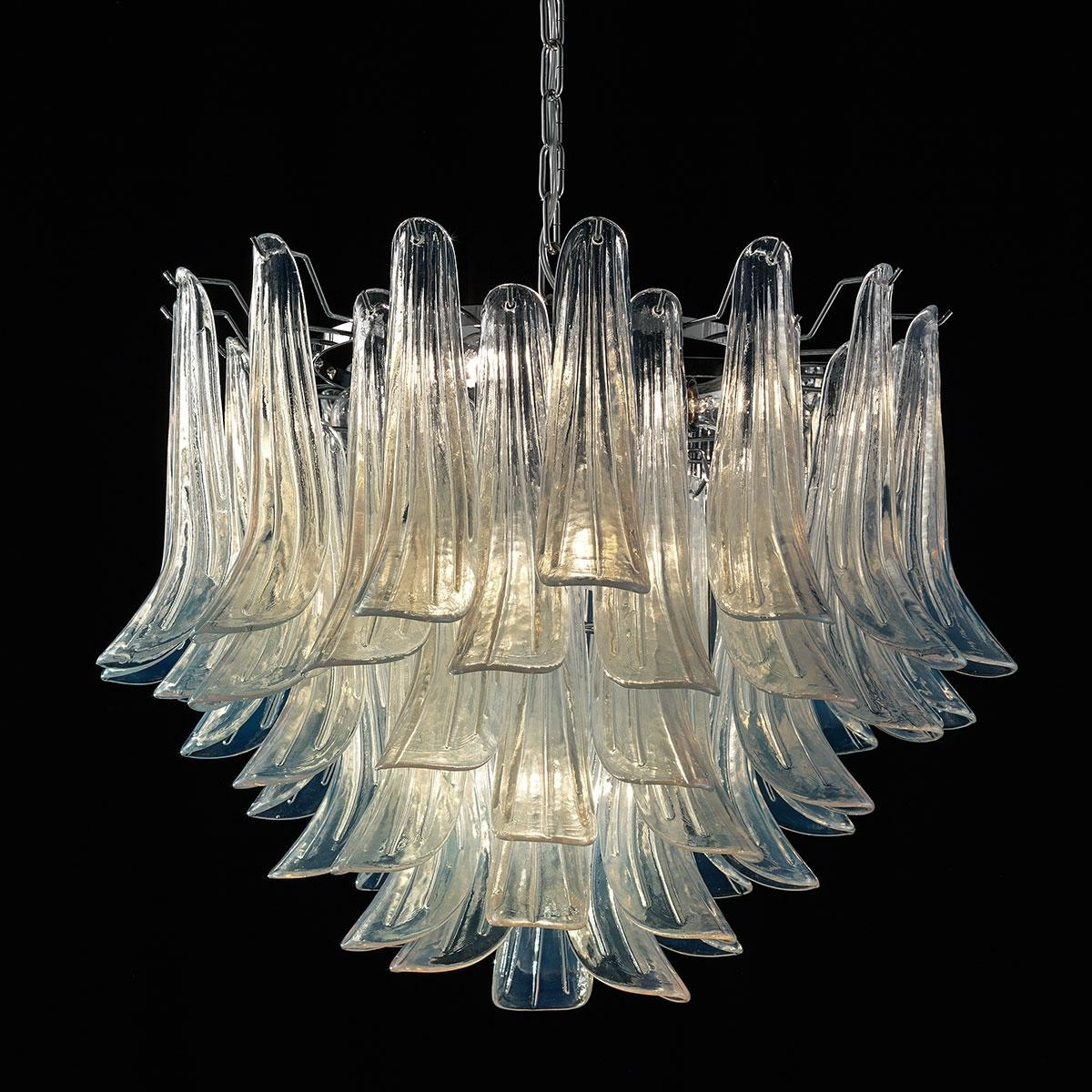 "Mildred"" Murano Glass Chandelier – Murano Glass Chandeliers Throughout Newest Glass Chandeliers (View 7 of 15)"
