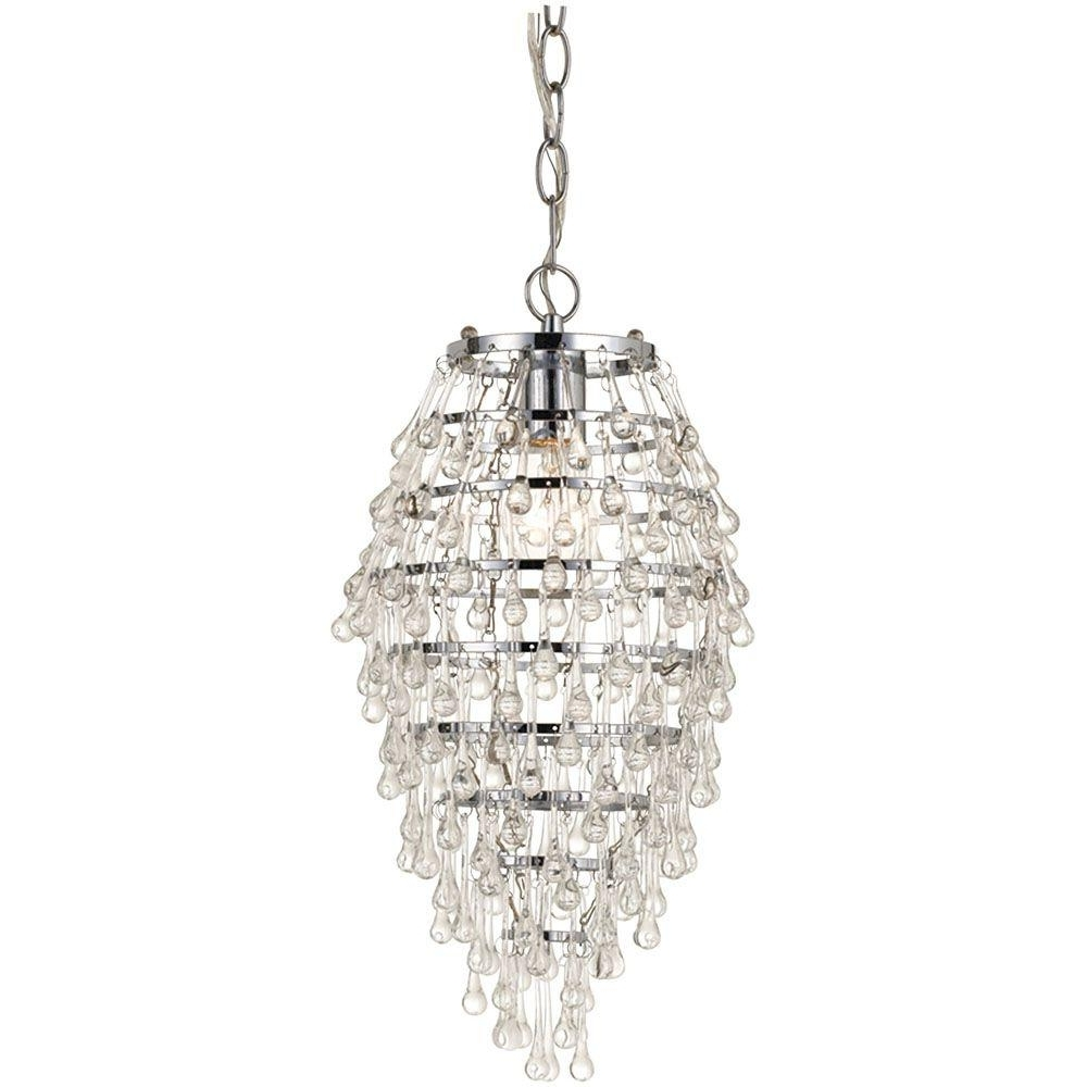 Mini – Chandeliers – Lighting – The Home Depot Intended For Most Recently Released Mini Crystal Chandeliers (View 9 of 15)