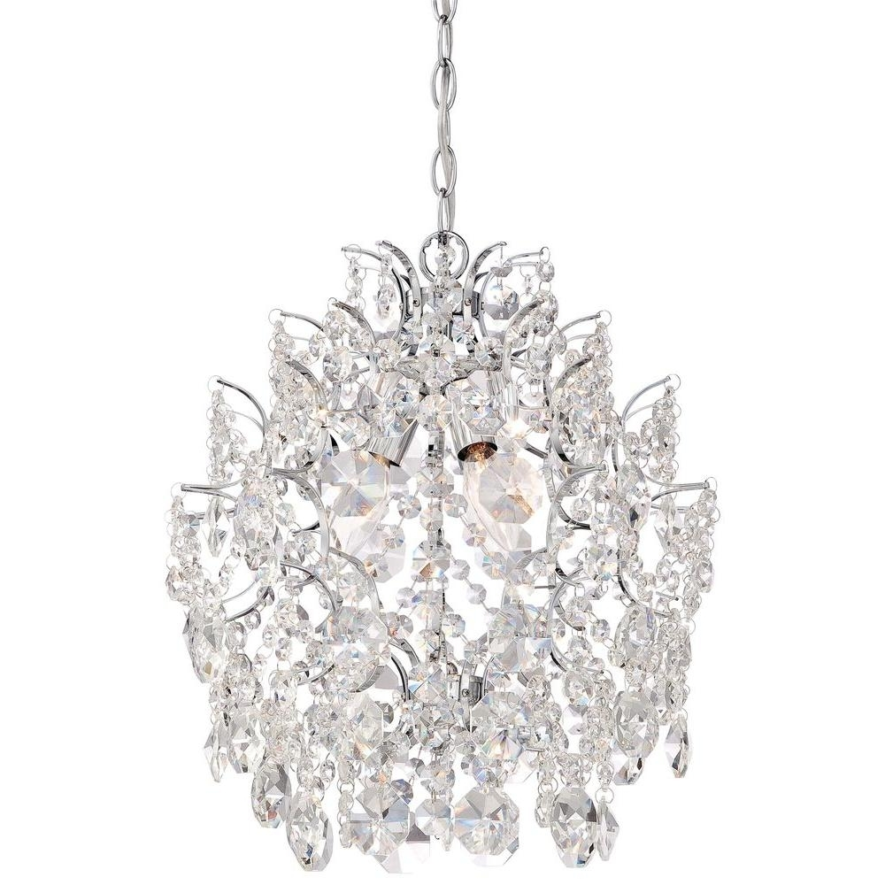 Minka Lavery 3 Light Chrome Mini Chandelier 3150 77 – The Home Depot Pertaining To Popular Small Chrome Chandelier (View 6 of 15)
