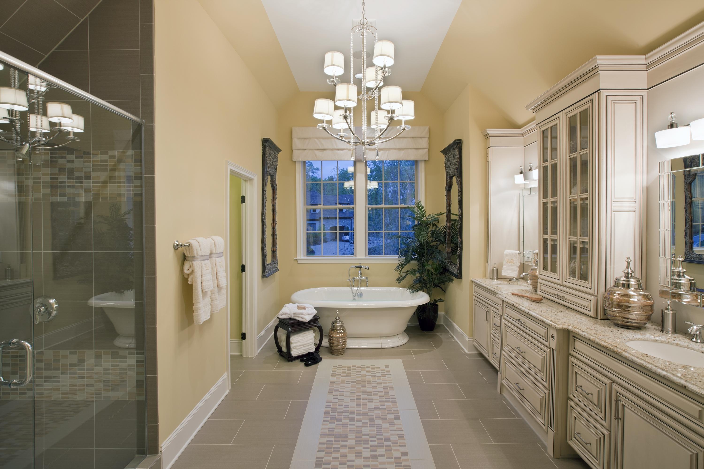 Modern Bathroom Chandelier Lighting Pertaining To 2018 5 Unexpected Ways To Light Your Bathroom – Progress Lighting (View 2 of 15)