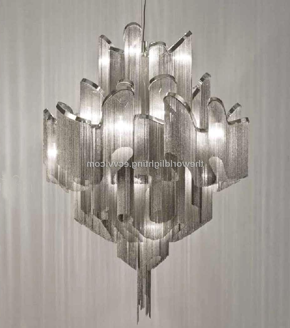Modern Chrome Chandelier With Preferred Aluminum Modern Chandelier China (Td 120519) Purchasing, Souring (View 11 of 15)