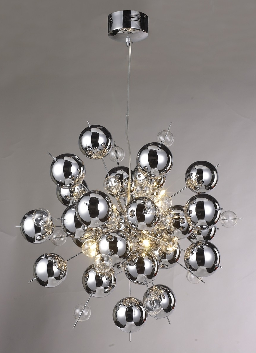 Modern Chrome Chandelier With Regard To 2018 Chrome Ball Sputnik Chandelier – Be Fabulous! (View 11 of 15)