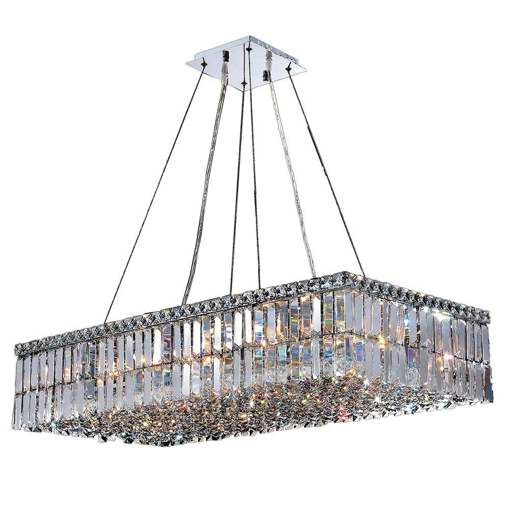 Modern Chrome Chandeliers Intended For Well Known Worldwide Lighting Cascade Collection 16 Light Polished Chrome (View 10 of 15)