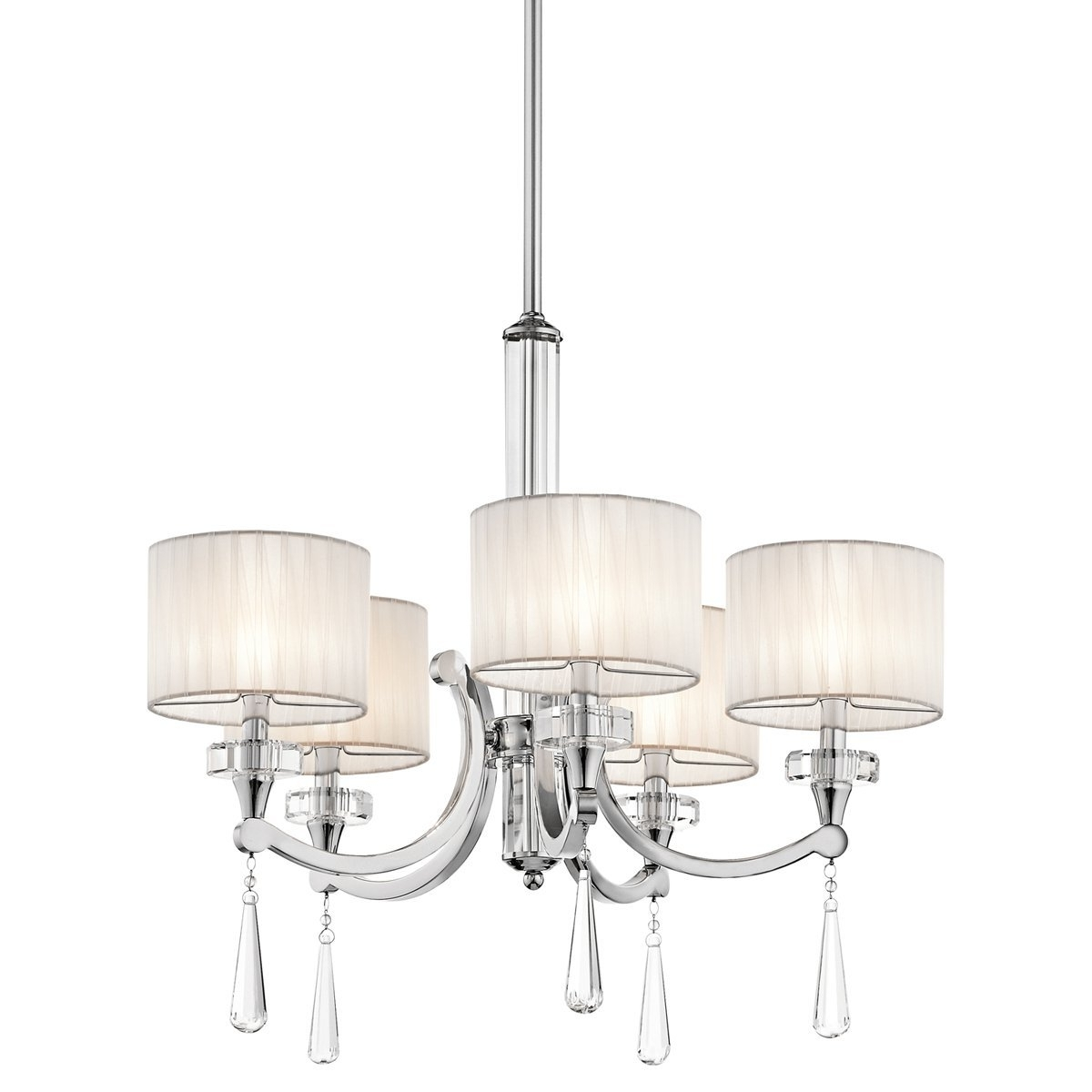 Modern Chrome Chandeliers Pertaining To 2018 Kichler 42631Ch Five Light Chandelier – – Amazon (View 9 of 15)