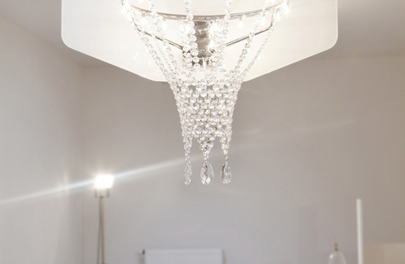 Modern Large Chandelier Throughout Famous Chandelier : White Modern Chandelier Entertain Restoration Hardware (View 10 of 15)
