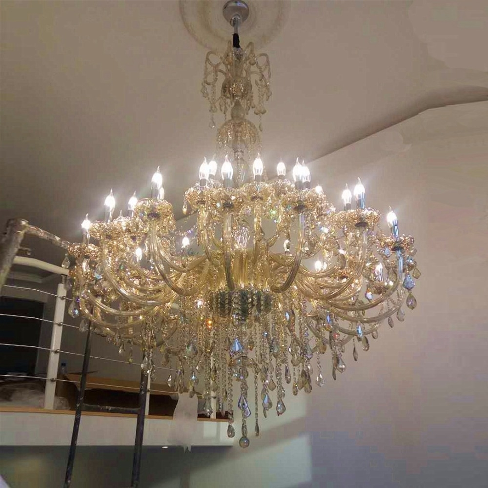 Modern Large Chandeliers Inside Most Recently Released Large Chandelier For Living Room Modern Crystal Chandeliers Large (View 8 of 15)