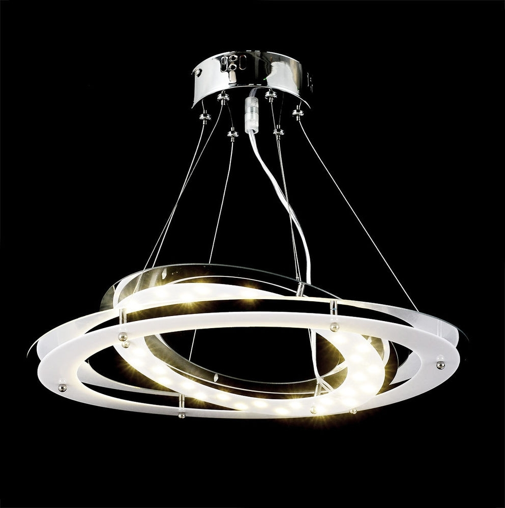 Modern Led Chandelier Pertaining To Well Known 18W, 1700Lm,satur Modern Design Led Chandelier Ceiling Lamp Lighting (View 6 of 15)