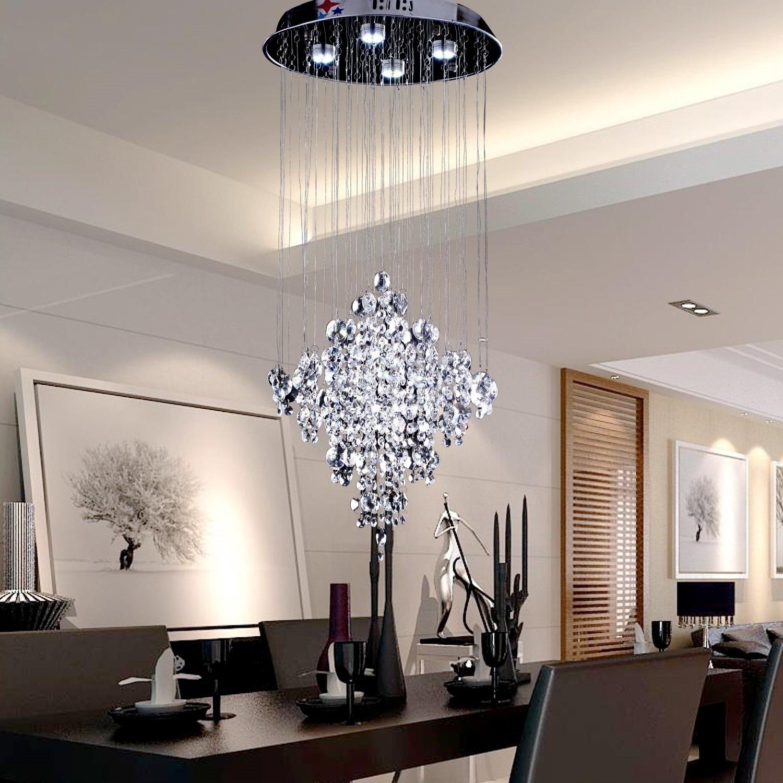 Modern Light Chandelier Regarding Popular Living Room : Modern Chandelier Lighting Modern Lighting Uk Modern (View 7 of 15)