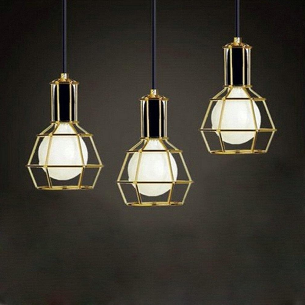 Modern Pendant Chandelier Lighting Regarding Well Known American Vintage Edison Pendant Lamps Chrome Bulb Holder Dining Room (View 7 of 15)
