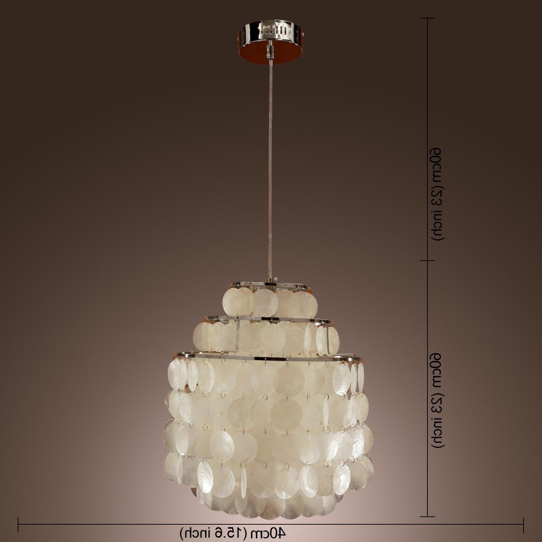 Modern Pendant Chandelier Lighting Throughout Fashionable Lightinthebox Modern White Shell Pendant Chandelier Mini Style (View 6 of 15)